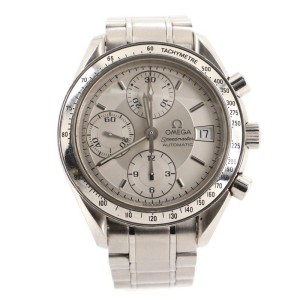 Omega Speedmaster Date Chronograph Automatic Watch Stainless Steel 39