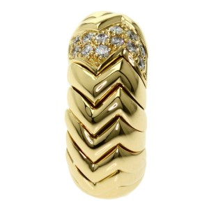 BVLGARI Diamond 18k Yellow Gold Spiga One side only Earring