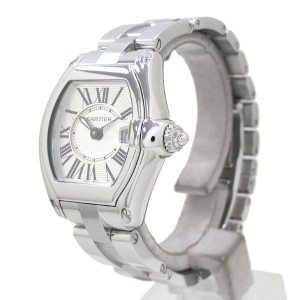 Cartier Roadster Stainless Steel Quartz 37mm Womens Watch
