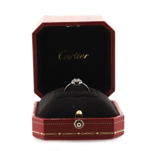 Cartier Ballerine Solitaire Ring Platinum with RBC Diamond E/VVS1 .23CT 5.75 - 51