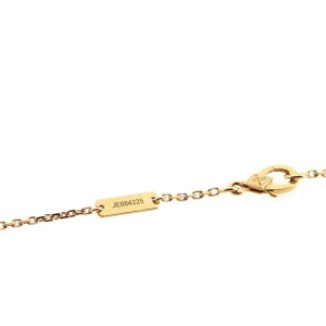 Van Cleef & Arpels Vintage Alhambra Pendant Necklace 18K Rose Gold and Onyx with Diamond