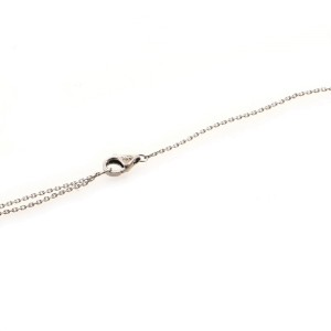 Cartier Heart Pendant 18K White Gold and Diamonds Necklace
