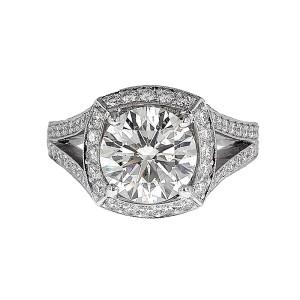 Jack Kelege Platinum Diamond Ring Size 6.5