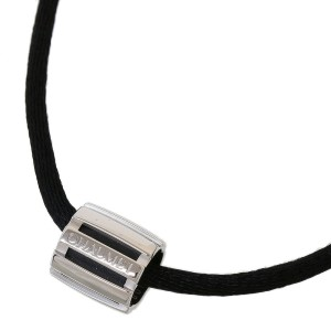 Chaumet 18k White Gold Class One Design Pendant Cord Necklace