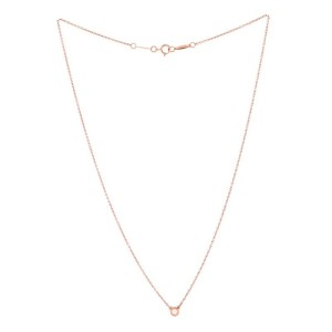 Tiffany & Co. Elsa Peretti Diamonds By The Yard Pendant Necklace 18K Rose Gold with Diamond .07CT