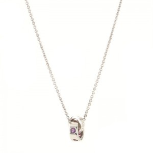Bvlgari Roman Sorbets Pendant Necklace 18K White Gold with Tourmaline and Amethyst