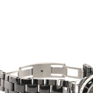 Chanel J12 Intense Black Quartz Watch Ceramic and Stainless Steel 33