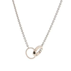 Cartier Love Interlocking Necklace 18K White Gold