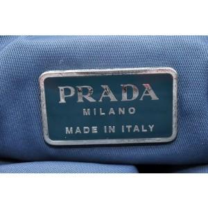 PRADA Nylon Hand Bag Blue