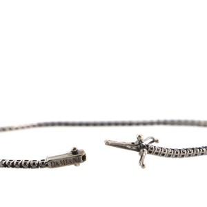 Damiani Prestige Tennis Bracelet 18K White Gold with Black Diamonds