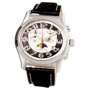 Stuhrling Original 104.331510 Stainless Steel & Leather 44mm x 40mm Watch