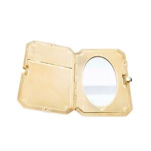 Antique Art Deco Carter and Gough 14k Gold Ladies Compat