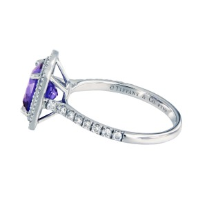 Tiffany & Co.  Platinum Tanzanite, Diamond Ring