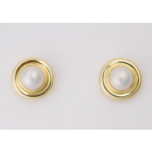 Tiffany & Co.  18k Yellow Gold Pearl: 9.8mm Earrings