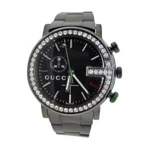 "Gucci Steel Pvd Ya101331 Diamond 3 Ct ""G""  Mens Watch"