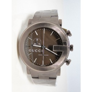Gucci Ya 101341 Brown Stainless Steel 101-G Mens Watch