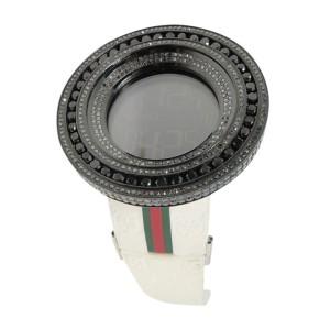 Gucci Brand New 52Mm Bezel I Digital Black 18.5 Ct Diamond  Mens Watch