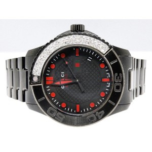 Gucci Ya126230 Timeless Xl  3 Ct Pave Diamond  Metal Band Mens Watch