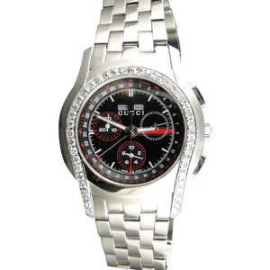 Gucci 5505 G-Class Ya055206 Chronograph Band Diamond Mens Watch