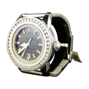 Breitling Superocean Heritage 7.75 Ct Diamond Mesh Band Mens Watch