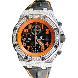 Audemars Piguet  Royal Oak Offshore Volcano 12 Ct Diamond Mens Watch