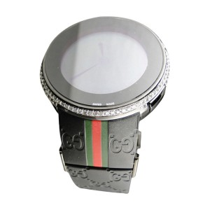 Gucci Mens Custom Digital I-Gucci 2 Row White Diamond YA114207 Watch