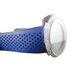 Gucci Sport I Gucci YA114105 XXL Digital 49 MM Blue Face Diamond Mens Watch
