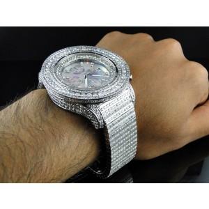 Breitling Super Avenger Diamond Fully Iced 42 Ct Mens Watch