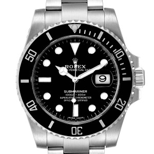 Rolex Submariner Ceramic Bezel Black Dial Steel Mens Watch 116610 Box Card