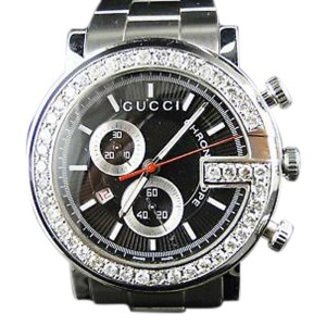 Gucci Ya101324 Chrono 3.5ct. Diamond 101G Mens Watch