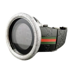 Gucci Digital Ya114207 White Diamond Custom Dome Big Full I Mens 53 mm Watch