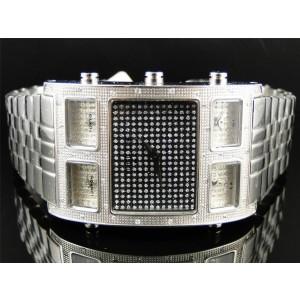 Techno Com KC W5T40M Joe Rodeo 5 Timezone Master .50 Ct Diamond Mens Watch