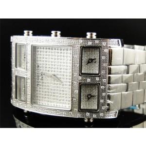 KC W5T80R Techno Com Joe Rodeo 5 Timezone Master Rose 1.0 Ct Diamond Mens Watch