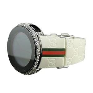 Gucci Digital 5.5 Ct Diamond Custom White Full I Watch