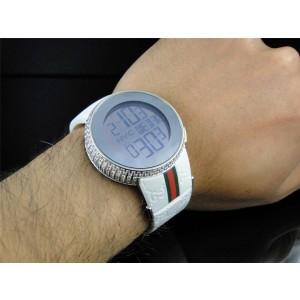 Gucci YA114214 Genuine Diamond 6 Ct Digital White Mens Watch