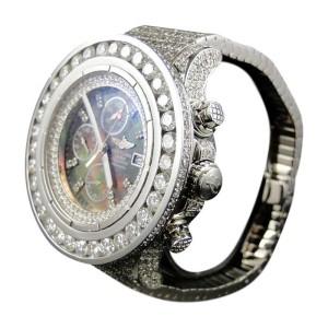 Breitling Mens Custom XL 55.20 Ct Super Avenger Aeromarine Diamond Watch