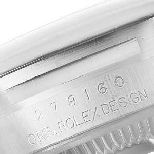 Rolex Datejust 28 Brown Dial Oyster Bracelet Steel Ladies Watch 279160 Box