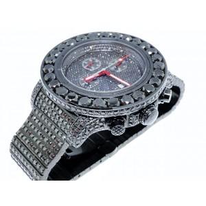 Breitling Super Avenger Aeromarine 58 MM Black Genuine Diamond 66 Ct Mens Watch