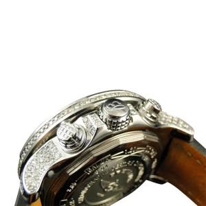 Breitling Mens 3 Row Super Avenger Aeromarine 55 MM Genuine Diamond 23 Ct Watch