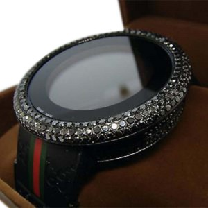 Gucci Black Diamond Black I Digital 12 Ct Diamond Mens Watch