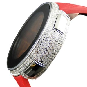 Gucci YA114212 Genuine Diamond Digital Red Mens Watch
