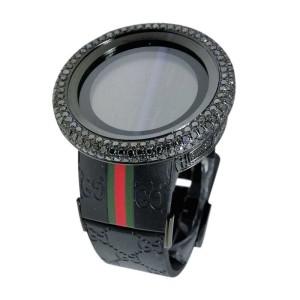 Gucci YA114207 Digital Black 17 Ct Diamond Mens Watch