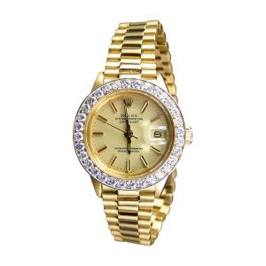 Rolex President Day-Date 18k Yellow Gold Diamond 27 MM Watch