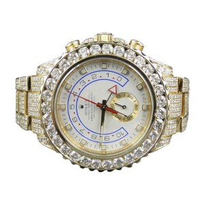 Rolex Yatchmaster 2 II 18k Yellow Gold Diamond Watch with 36 Ct