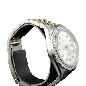 Rolex 2 Tone Datejust Oyster 18k/Steel Band  2.1 Ct Diamond Mens Watch