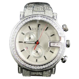 Gucci Ya101334  Custom 101 G Chrono Real 44 MM  Diamond Mens Watch