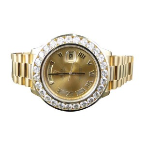 Rolex Day-Date 2 II 18k 41MM Presidant Yellow Gold Diamond Mens Watch