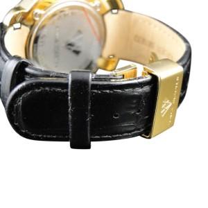 Aqua Master W#96 Jojo Jojino Joe Rodeo Black Leather Diamond Mens 45 mm Watch