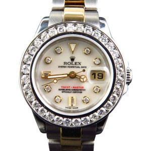 Rolex 2 Tone Yacht Master Band 29 MM 18k/Steel Band 169623 Diamond Watch