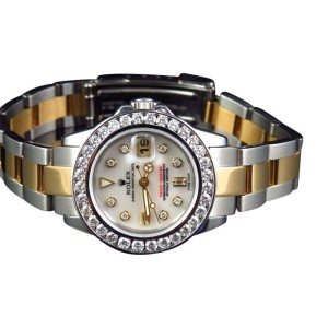 Rolex 2 Tone Yacht Master Band 29 MM 18k/Steel Band 169623 Diamond Watch